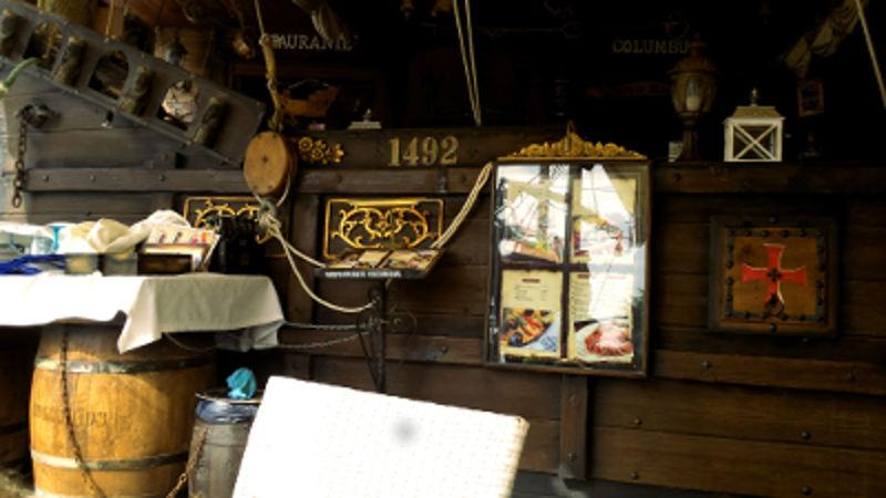 Een restaurant dat is vormgegeven als het schip van Columbus