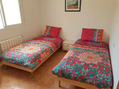 two beds, holiday home