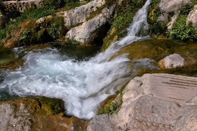 watervallen, les Fonts d' Algar, groen, rotsen, stromend water