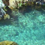 blauw water, zwemmen, watervallen
