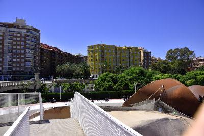 Uitzicht vanaf speelpark, Valencia