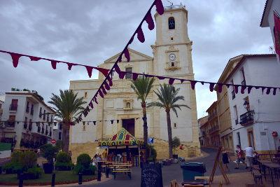 zomer, zomervakantie in La Nucia, Middeleeuwse markt