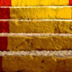 trap, rood, geel rood