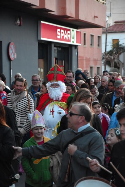 optocht, Sint en Piet. Alfaz del Pi