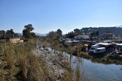 marktkraampjes, rivier Gorgos