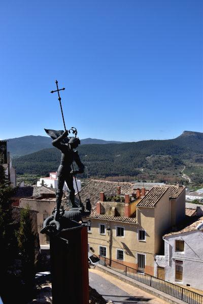Sant Jordi, Banyeres de Mariola, draak, ridder
