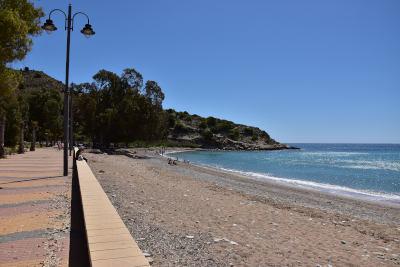 strand, zee, Villajoyosa, blauwe lucht